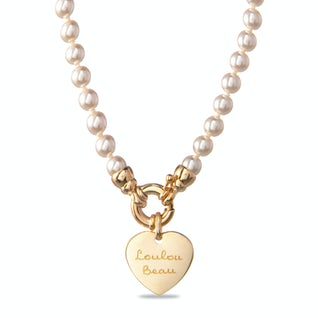 Coco Pearl Ketting Verguld