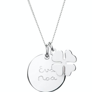 Coin Ketting Lucky Charm Zilver