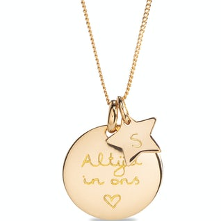 Coin Ketting Sterretje Goud