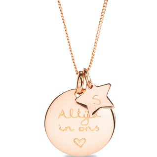 Coin Ketting Sterretje Rosé
