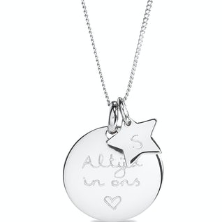 Coin Ketting Sterretje Zilver