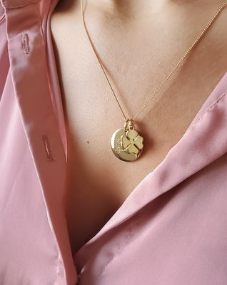 Coin Ketting met Lucky Charm 1 2