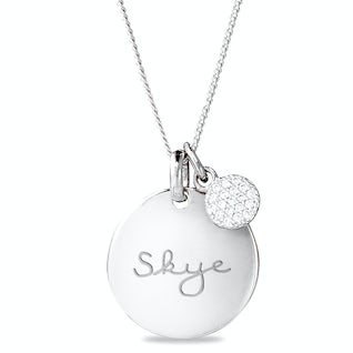 Coin Sparkle Ketting Zilver