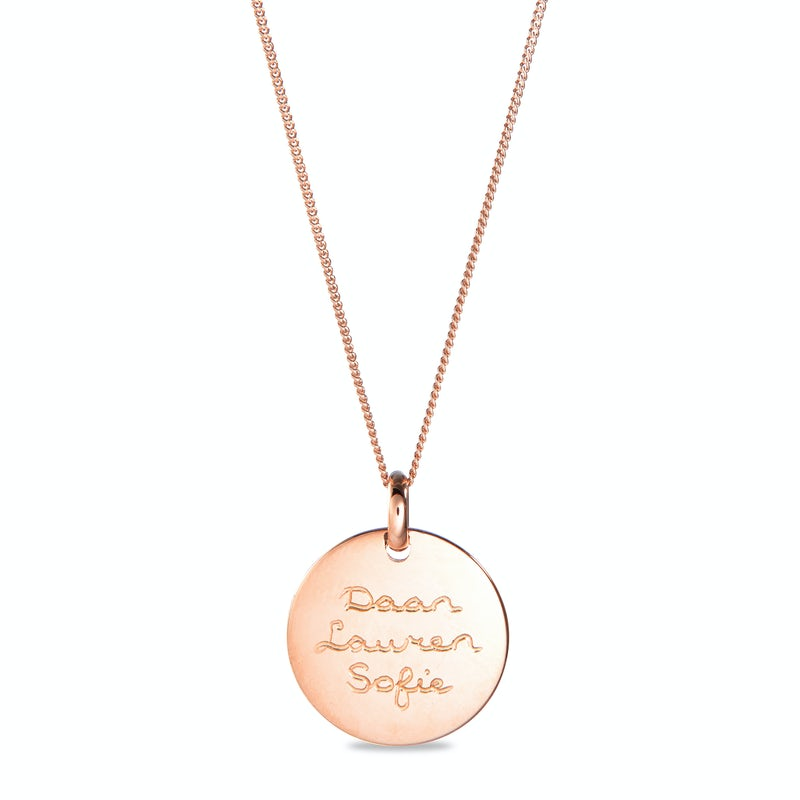Coin necklace big Rose
