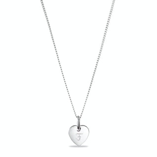 Heart charm necklace small F goud Zilver