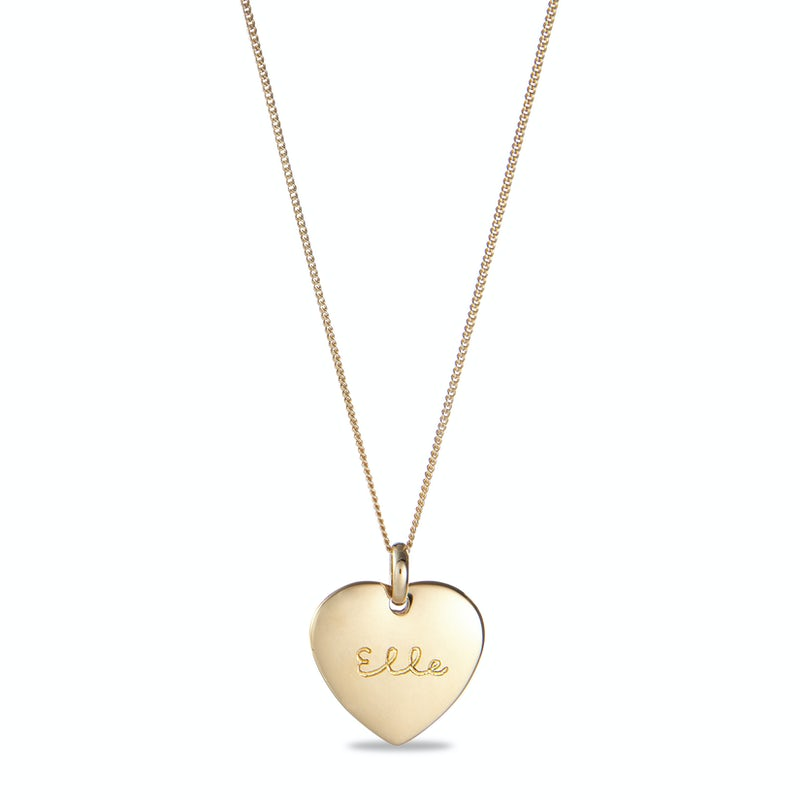 Heart Charm Necklace Goud