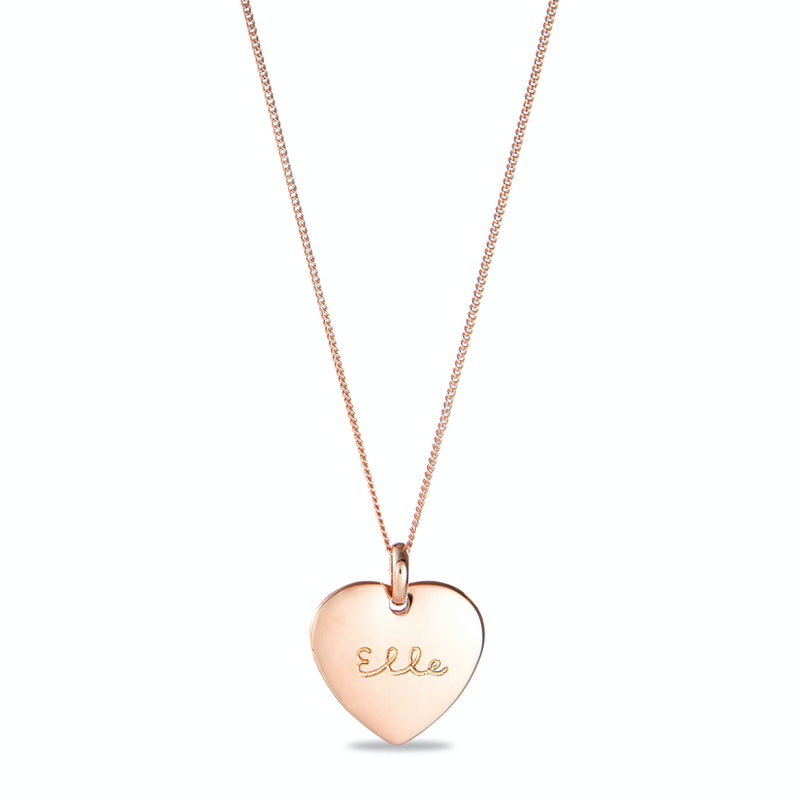 Heart charm necklace rose