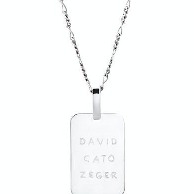 Mannen Tag Figaro Ketting Zilver