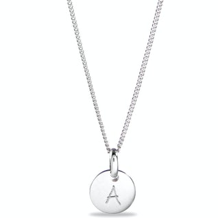 Mini Coin Ketting Zilver A