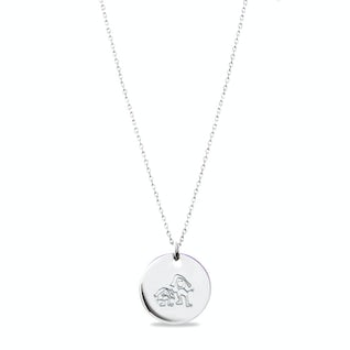My own drawing necklace zilver