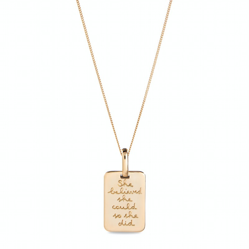 Quote Necklace Goud