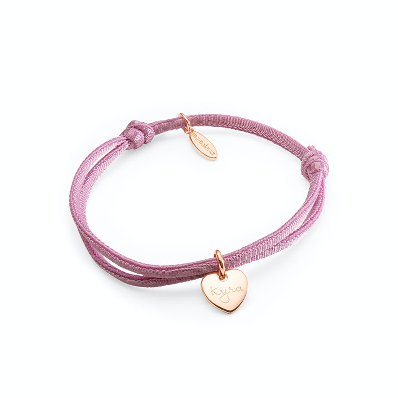 Stretch armband Heart small rosee