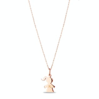 The Girly Necklace rose