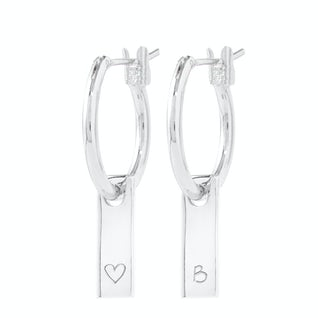 Tiny Tag Earrings zilver