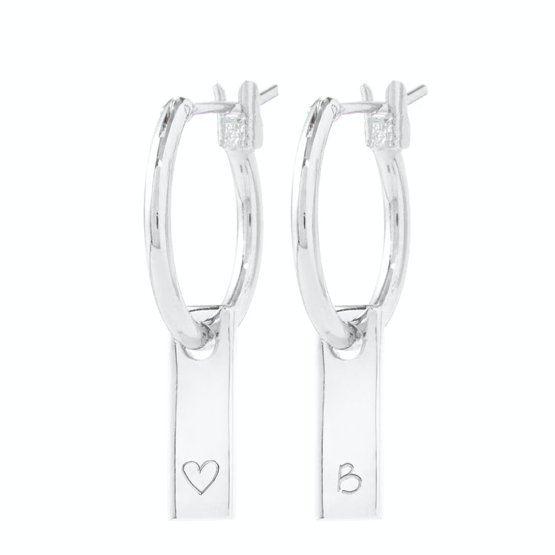 Tiny Tag Earrings zilver 3 0
