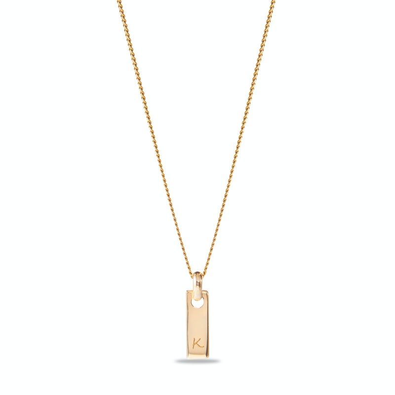 Tiny tag necklace Gravure