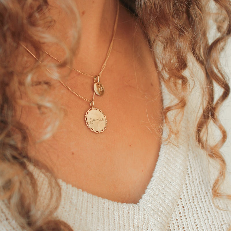 Vintage coin ketting