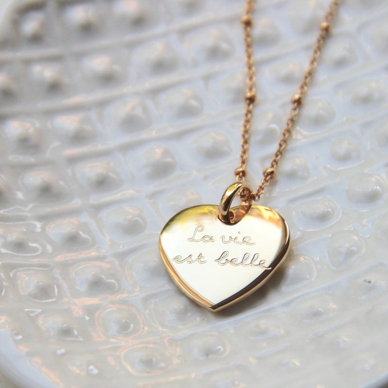 Heart necklace gold plated
