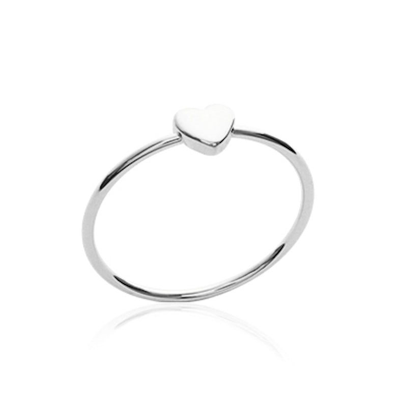 petite heart ring silver