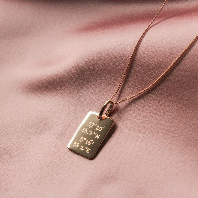 Tag Necklace gold plated