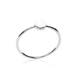 petite rond ring zilver
